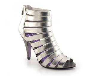 Metallic Sandal With Multi Straps