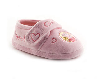 Peppa Pig Velcro Slipper- Nursery