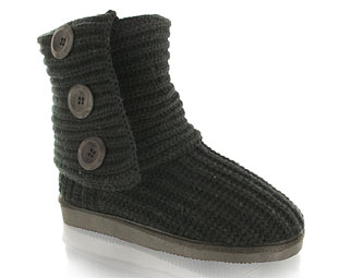 Barratts Snug Knitted Casual Slouche Boot
