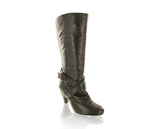 Barratts Stunning Slouch Boot with Buckle and Strap Feature