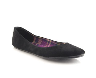Suede Ballerina With Printed Sock - Size 1-2