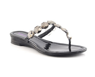 Toe Post Sandal With Jewel Trim
