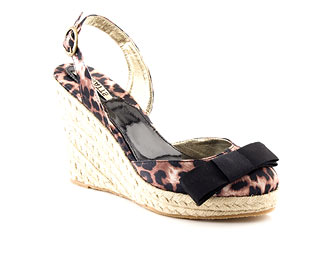 Two Part Platform Wedge Sandal