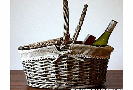 Basic House Traditional Two lids Picnic Baskets Shopping Hampers