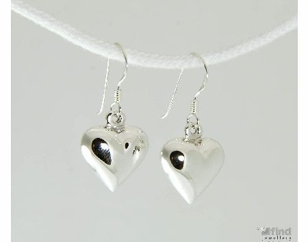 Basics Sterling Silver Heart Drop Earrings product image