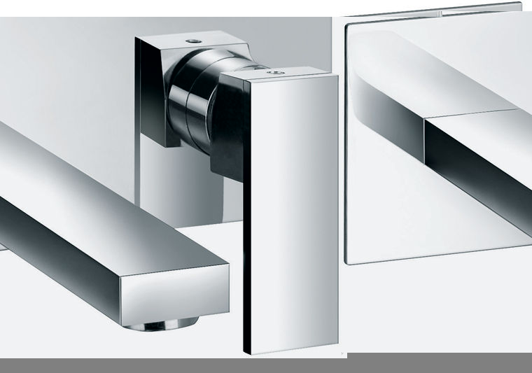 Benjamin 2 hole wall mounted basin mixer with