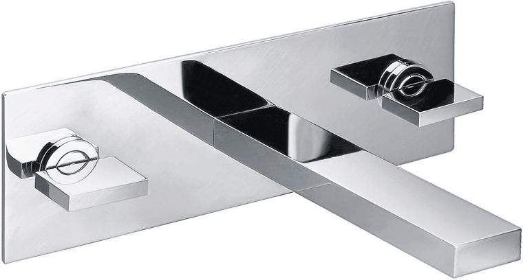 Benjamin 3 hole wall mounted basin mixer with