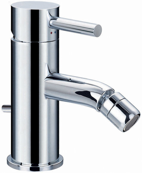 Edgar single lever bidet mixer with clicker waste