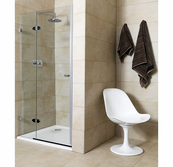 Jade 900mm 2 Part Shower Door (left)