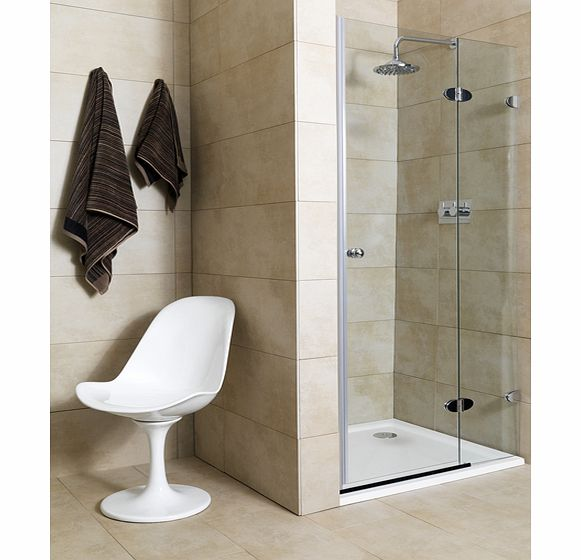 Jade 900mm 2 Part Shower Door (right)