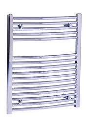 Loire Chrome Curved Heated Towel Rail 600mm x