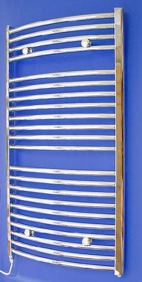 Loire Electric Towel Rail 1100x600mm Chrome Curved