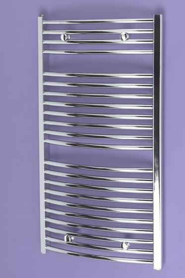 Loire Heated Towel Rail 720x490mm Chrome Curved