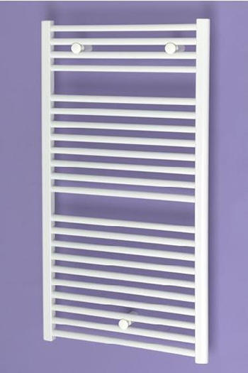 Loire Heated Towel Rail White Straight 1084x490mm