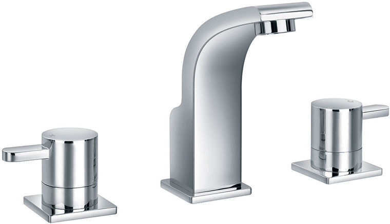 Neo 3 Hole Basin mixer with clicker waste