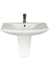 Sateen Semi Pedestal Basin