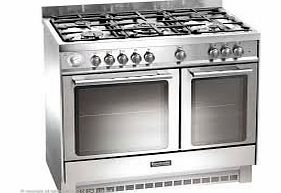 bcd925ss dual fuel range cooker free standing stainless steel baumatic