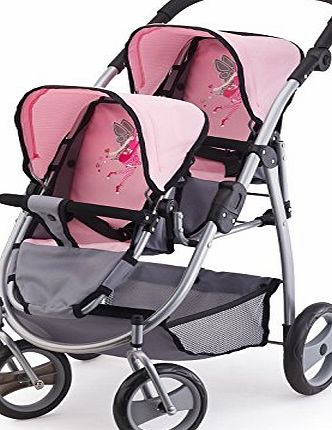 Bayer Design 2650800 Twin Dolls Pram