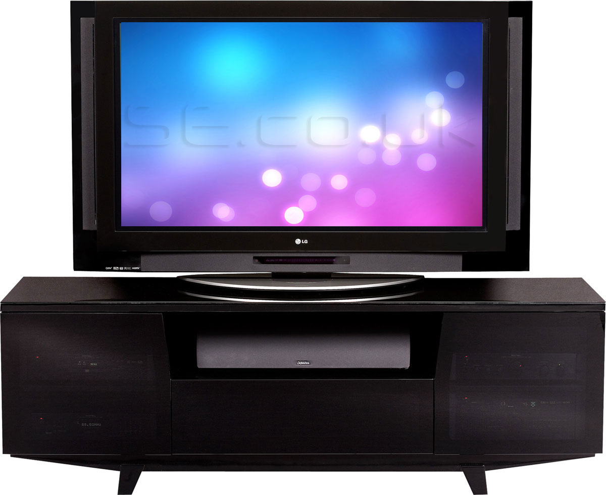 Led Tv Stand Images : Led Tv Stand : Marina 8729 Black LED and LCD TV Stand