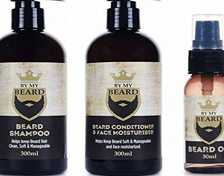BE MY BEARD By My Beard Care Kit - Shampoo, Conditioneramp;Face Moisturiser and Oil