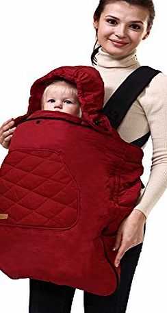 bebear Bebamour Universal Baby Carrier Cover for Winter Warm Rain Cover (Red)
