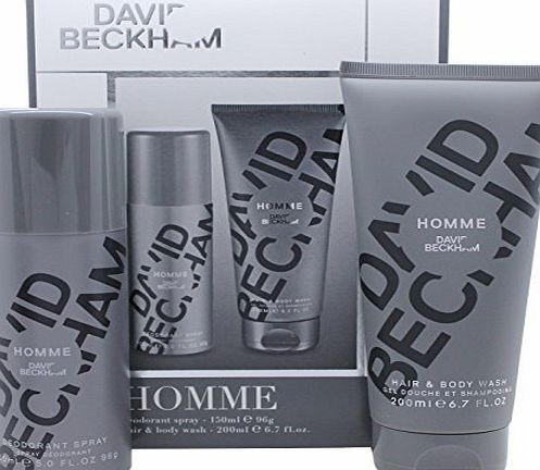 Beckham David Beckham Homme 2 Piece Deo Spray and Body Wash Gift Set
