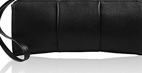 Becko Women Wallet and Purse Long Clutch Butterfly Handbag Card Holder - Black