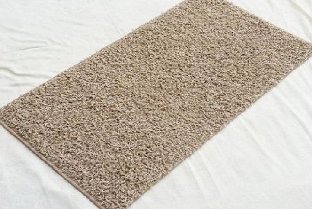 Bedding Online Shaggy Rug Modern Design Bravo Runner Printed 51000 Carpet Beige, 80cm x 150cm (2ft7`` x 4ft11``) Approx product image
