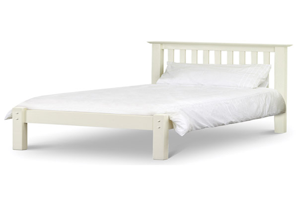 Bedworld discount barcelona white bed frame low foot end for Cheap white bed frame