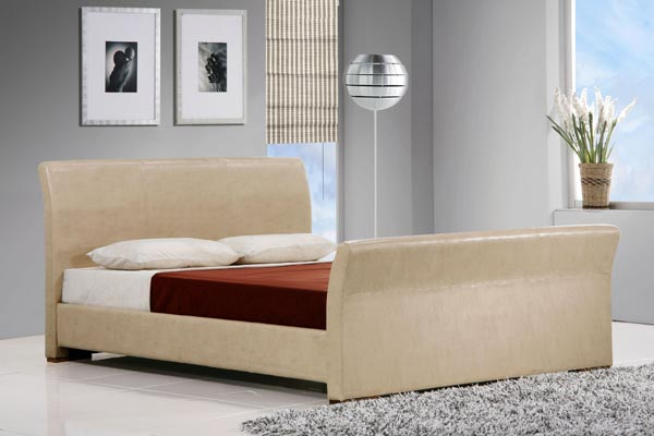 Cadiz Cream Bed Frame Double 135cm