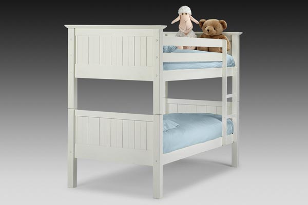 Bedworld discount colorado white bunk bed single 90cm for Cheap bunk beds uk