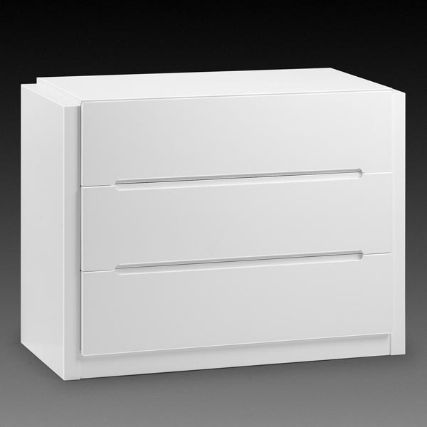 Dakota White 3 Drawer Chest