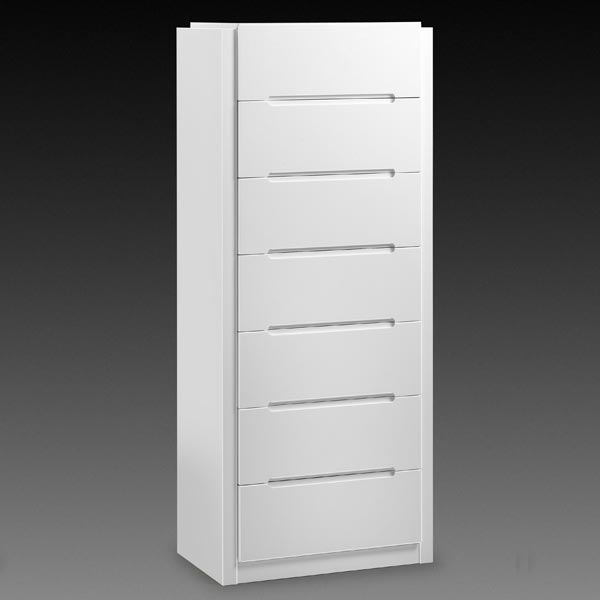 Dakota White 7 Drawer Chest