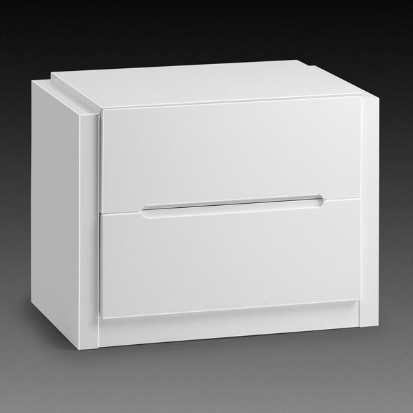 Dakota White Bedside Table