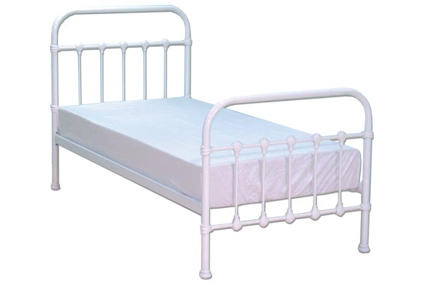 Bedworld Discount Darwin White Metal Bed Frame Single 90cm