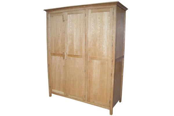 Kendall Oak 3 Door Wardrobe
