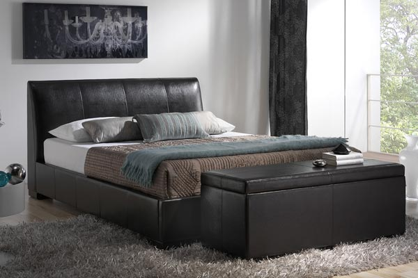 Bedworld Discount Kenton Brown Bed Frame Small Double 120cm
