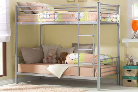 Bedworld discount metal twin bunk bed single bunk bed for Cheap bunk beds uk