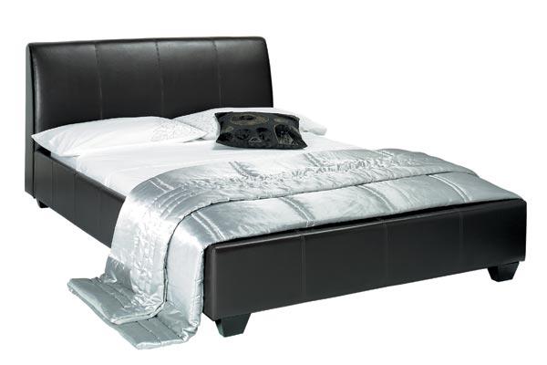 Bedworld Discount Paris Black Faux Leather Bed Frame