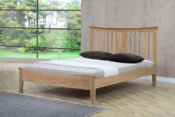 Bedworld Discount Portland Oak Bed Frame Double 135cm