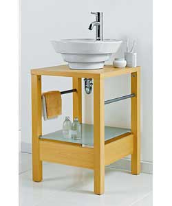 Freestanding Sink Unit with Sink and Tap