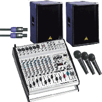 Behringer Europower PA Package with 3 Mics