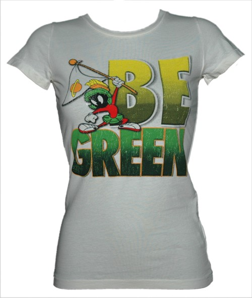 Be Green Ladies Marvin The Martian T-Shirt from Bejeweled
