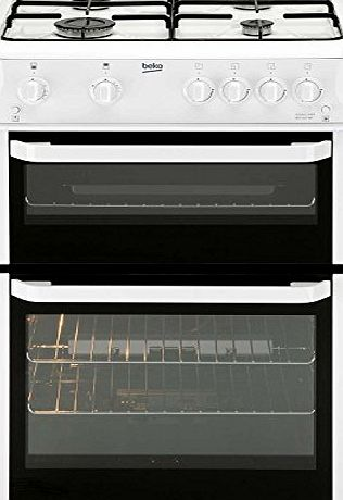 Beko BDG682WP Double Cavity 60cm Gas Cooker - White