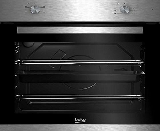 Beko BXIC21000X A Rated Built-in Electric Grill Single Oven in Stainless Steel