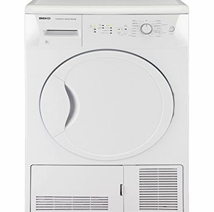 Beko DCSC821W 8kg Load Condenser Tumble Dryer 15 Progs Class B White