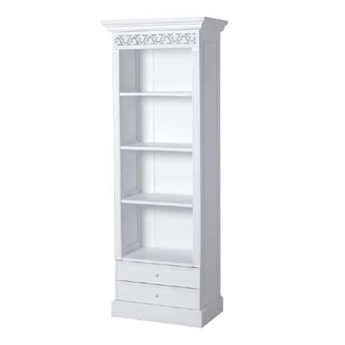Book Cases N A R Tall Narrow 5 Shelf White Bookcase