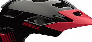 Bell Sidetrack Kids Helmet in Black/Red Echo