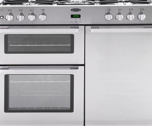 Belling DB4 90DFT Professional 90cm Dual Fuel Range Cooker - Stainless Steel