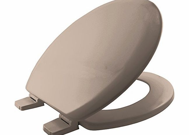 Bemis 5000AR Chicago Moulded Wood Toilet Seat With Plastic Hinges Soft Crea
